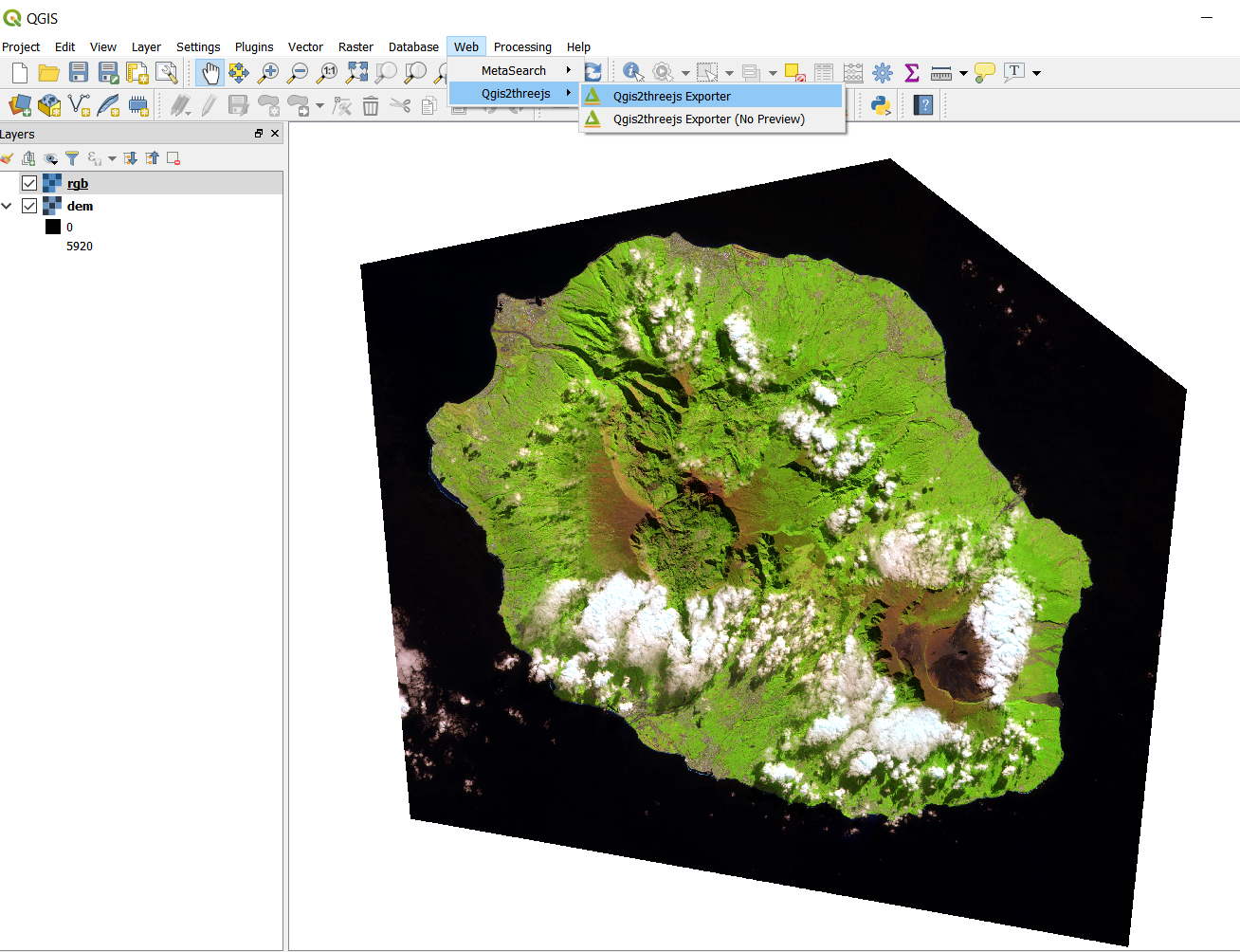 Tutorial: Simple 3D web viewer with QGIS